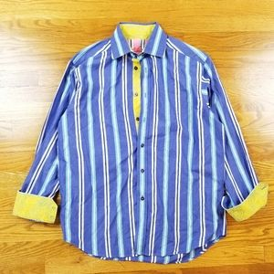 Robert Graham Flip Cuffs Casually Dress Shirt